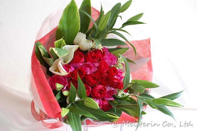 25回目の結婚記念日の花束