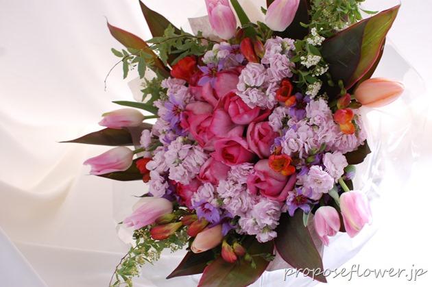 結婚記念の花束