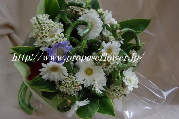 白いガーベラ花束