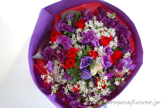 誕生日プレゼントの花束 from overseas